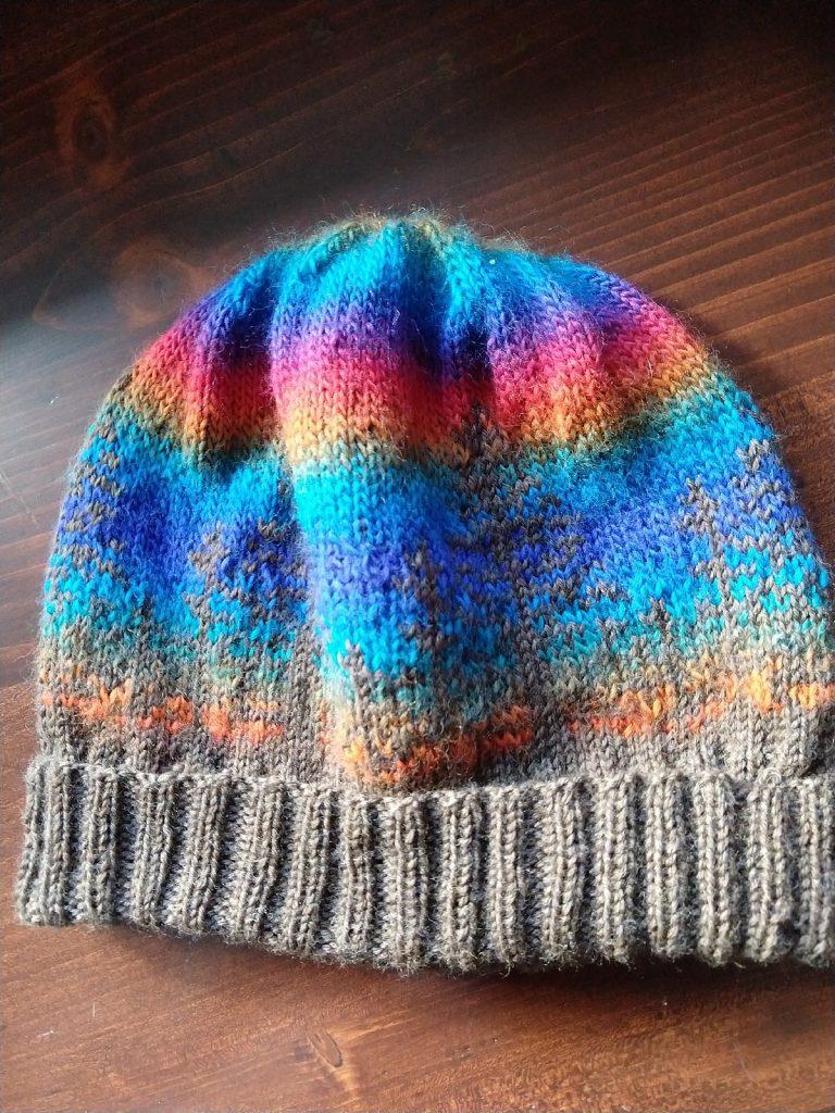 Alaska hat in Knit Picks Stroll and Willow Yarns Verbena