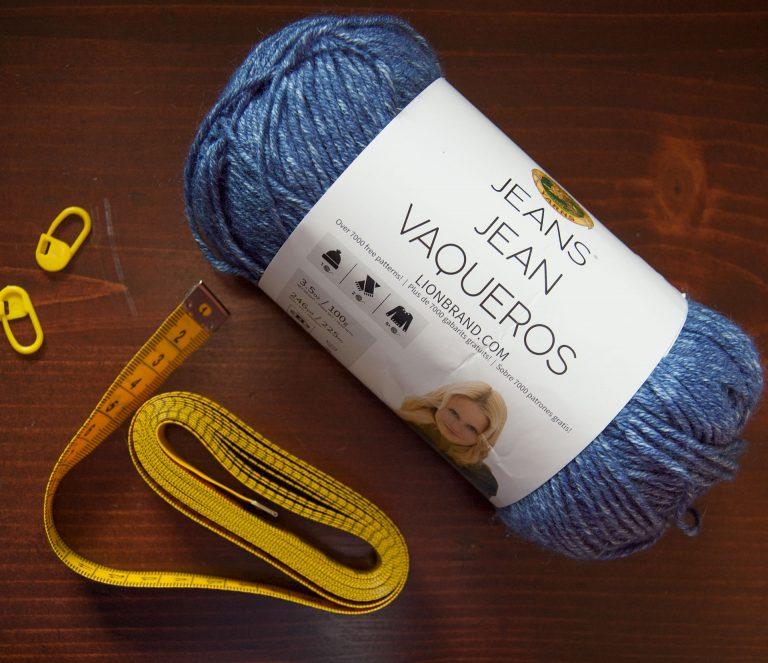 Lion Brand Jeans yarn in Stonewash