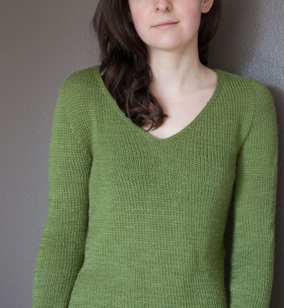on the beach pullover pattern by Isabell Kraemer knit by pirateforhire