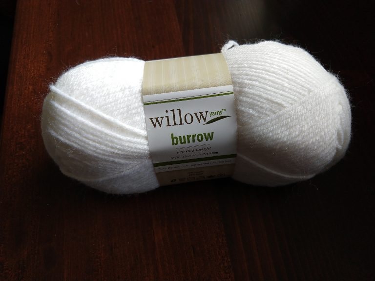 Willow Yarns Burrow wool acrylic blend yarn in Chalk