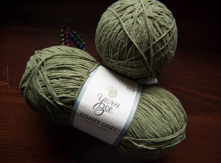 comfy cozy is a nylon and polyester blend yarn