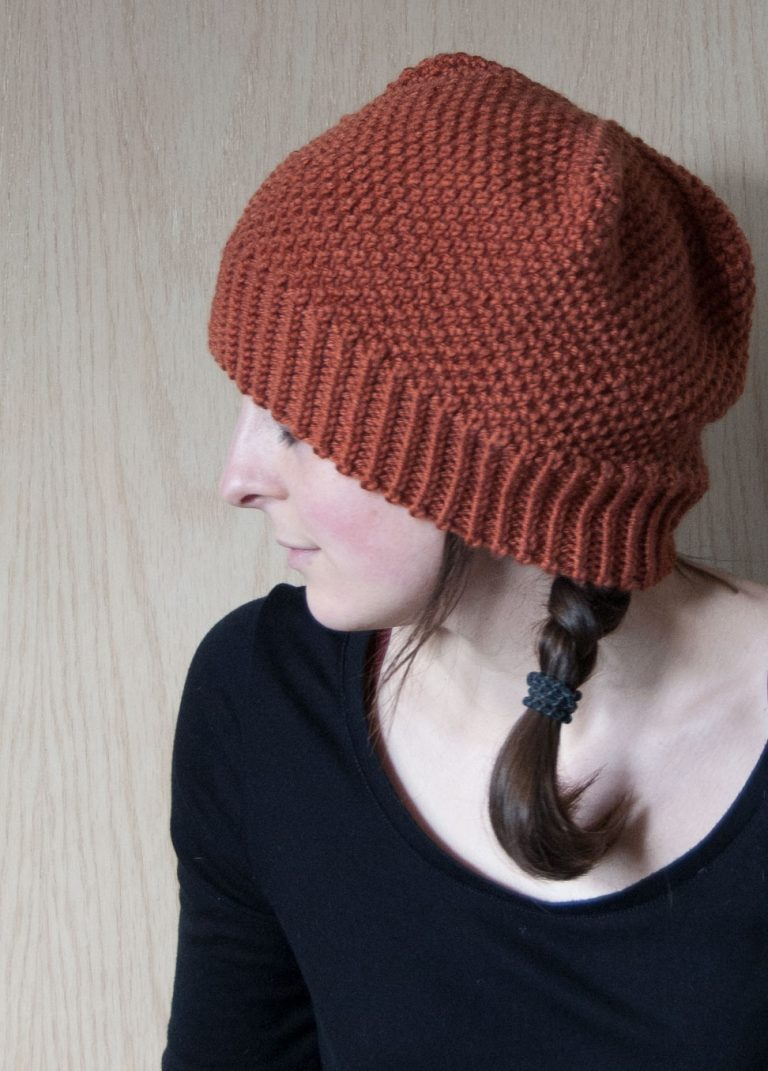 fluffy brioche hat pattern from purl soho, knit by pirateforhire
