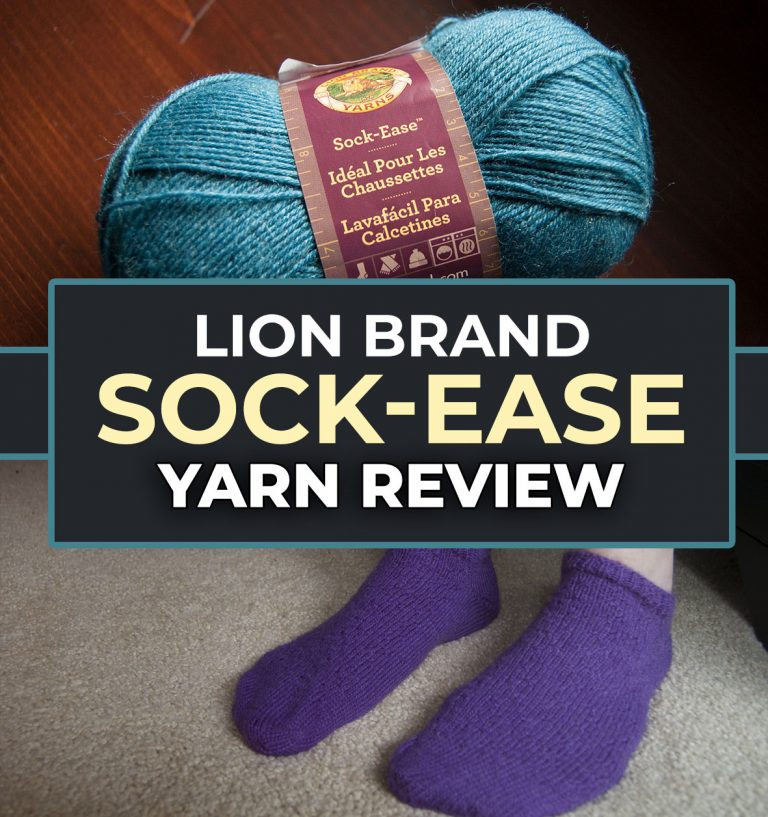 Sock-Ease yarn review lion brand sock yarn