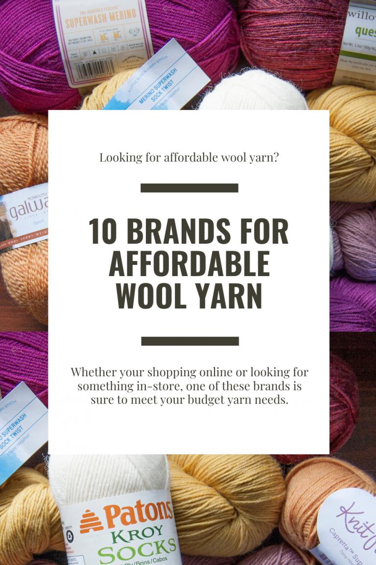 affordable wool yarn on a budget