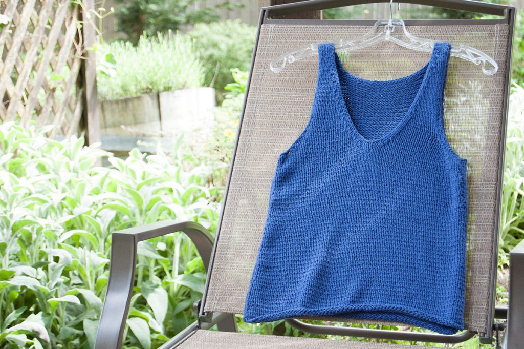 Loops & Threads Creme Cotton Ginger Knit Tank