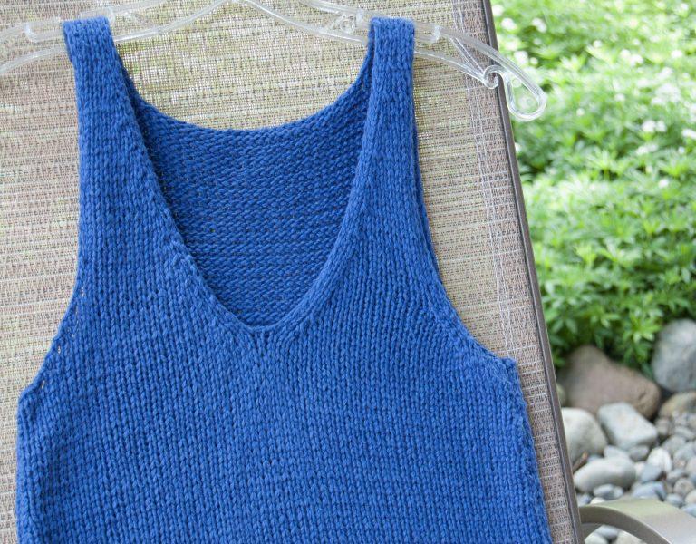 tank knitting pattern loops & threads creme cotton