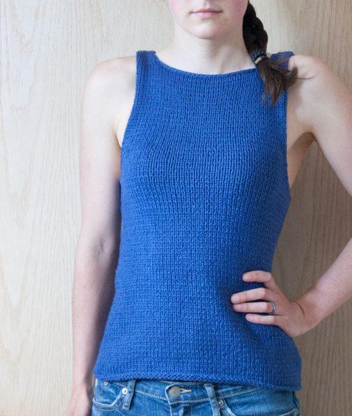 free top knitting pattern reversible tank