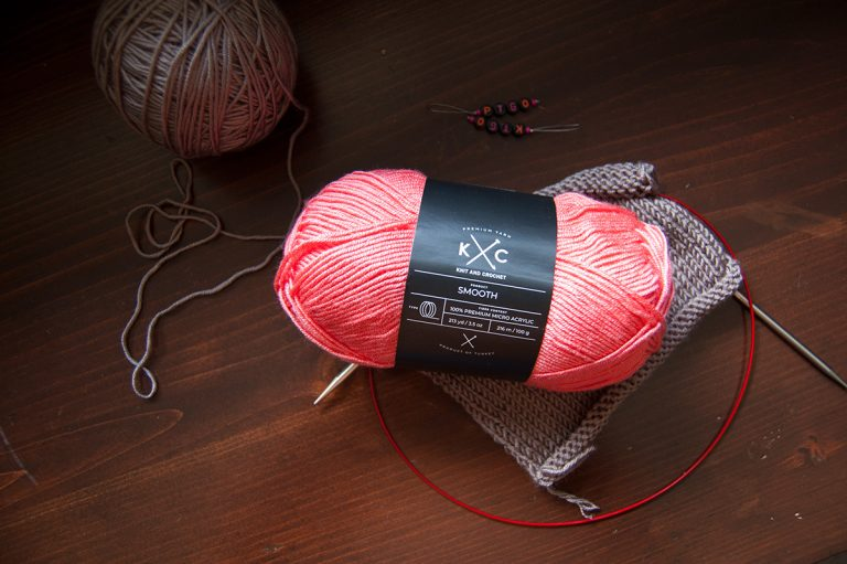 kc smooth knit and crochet yarn