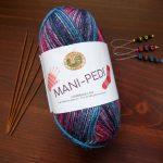 lion brand mani-pedi sock yarn self striping