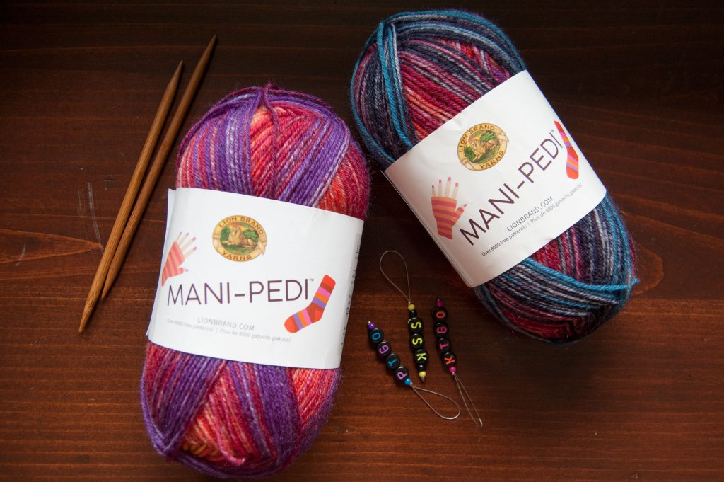 Lion brand mani-pedi sock yarn
