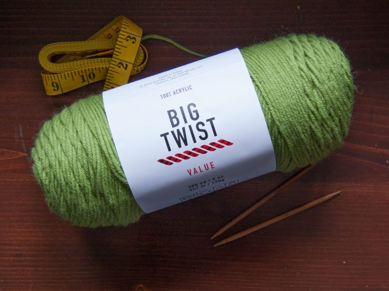 big twist value acrylic yarn