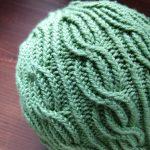 Lina Hat Twisted Stitches closeup