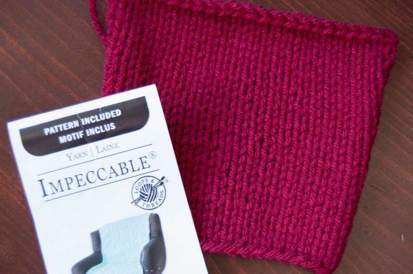 knit swatch of loops & threads impeccable yarn