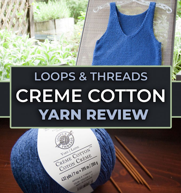 creme cotton yarn loops & threads summer yarn