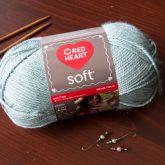 red heart soft acrylic yarn color seafoam