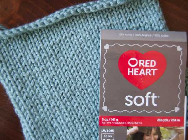 red heart soft yarn knitting swatch
