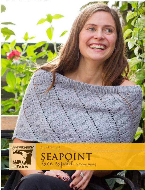 Seapoint Lace Capelet by Tabetha Hedrick Recommended pattern for Loops & Threads Creme Cotton yarn.