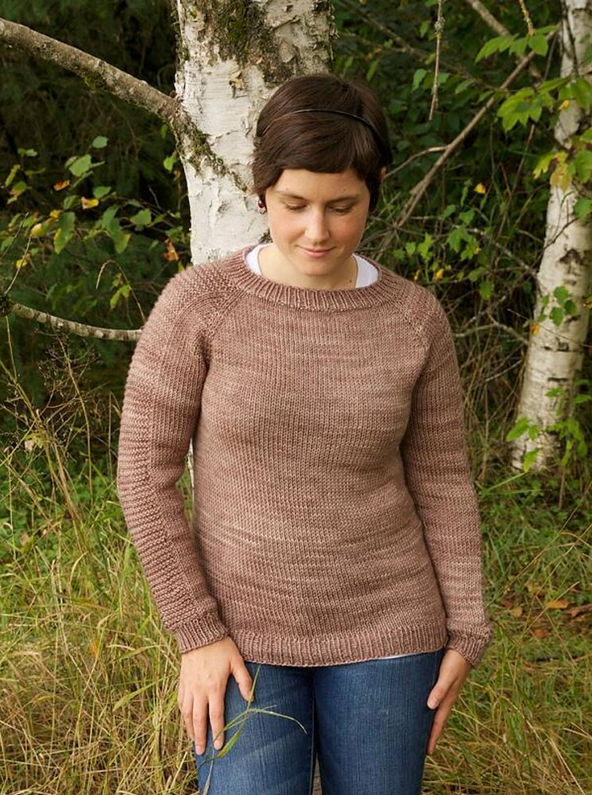 Flax Sweater Pattern by Tin Can Knits. Recommended pattern for Loops & Threads Creme Cotton yarn.