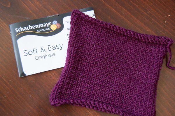 knitting swatch acrylic yarn schachenmayr soft & easy