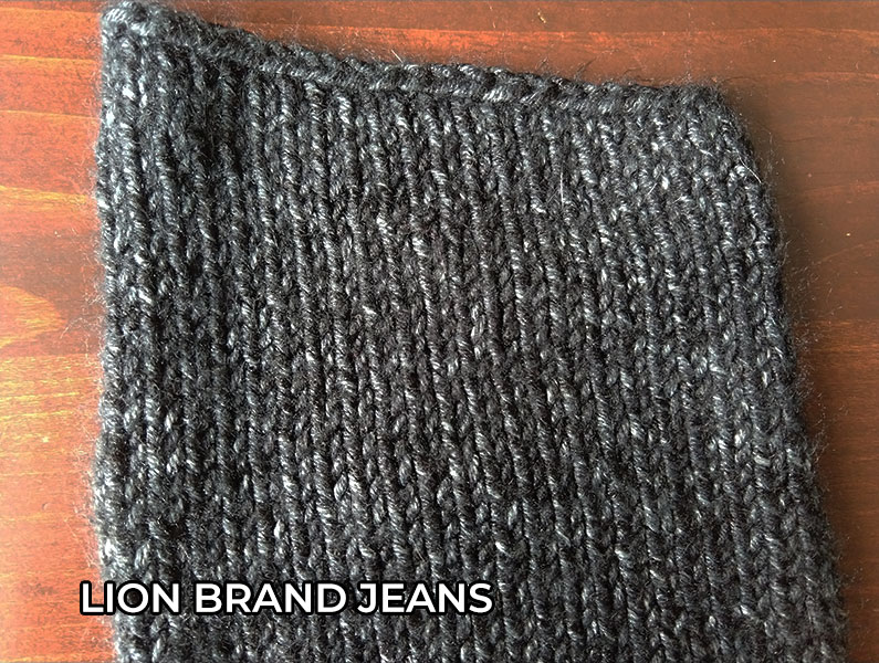 knitting yarn Lion Brand Jeans Yarn