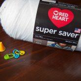 white acrylic yarn red heart super saver