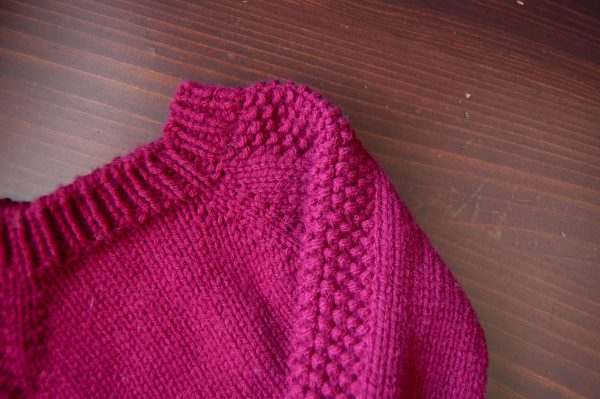 seed stitch panel flax sweater in loops & threads impeccable