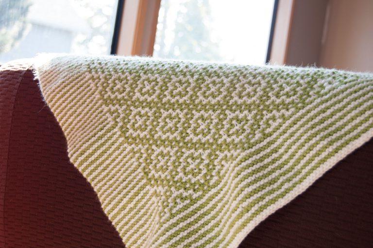 big twist value green baby blanket knitting