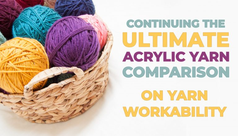acrylic yarn comparison knitting crochet yarn