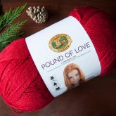 acrylic yarn cheap Lion brand pound of love