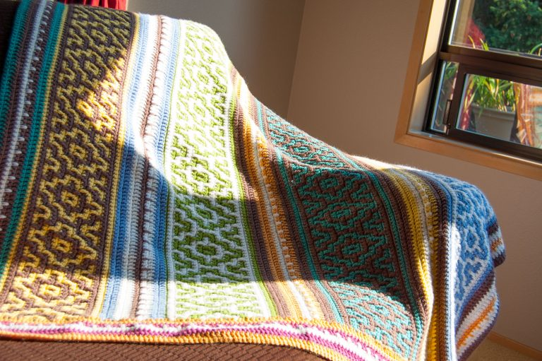 mosaic crochet blanket crocheting yarn