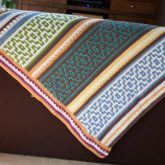 large crochet blanket mosaic crochet