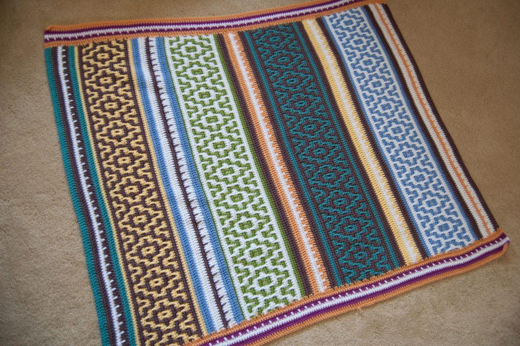 mosaic crochet blanket lillabjorn crochet