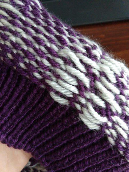 knit colorwork floats plaid hat