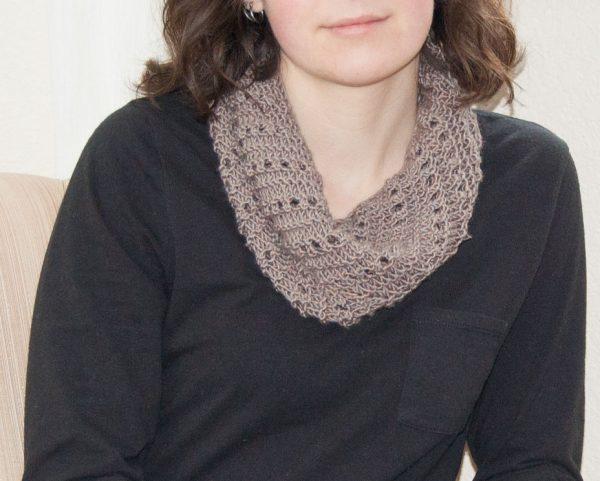 cowl knitting k&c smooth yarn