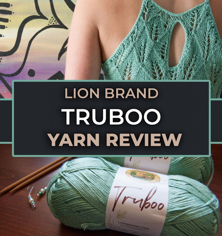 review of lion brand truboo bamboo yarn