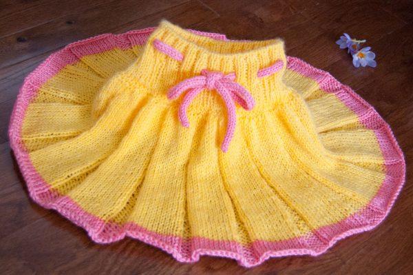 knit picks brava baby skirt knitting