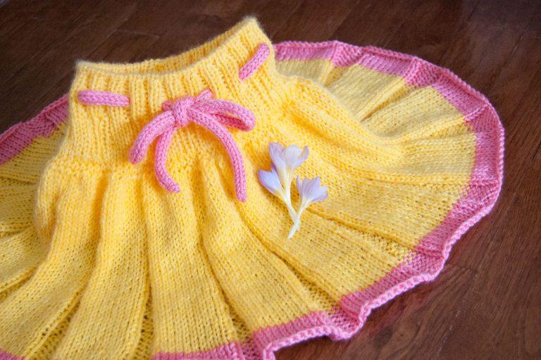 knit baby skirt