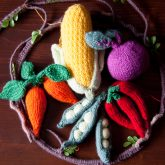 quirky vegetable baby mobile