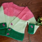 watermelon harvest cardigan with buttons