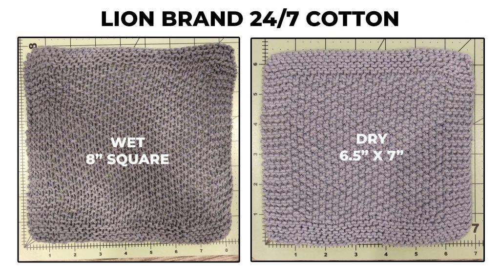 Lion Brand 24/7 Cotton dishcloth