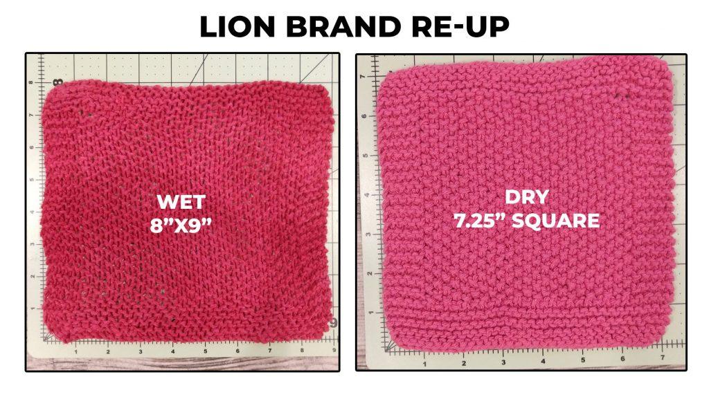 Lion Brand Re-Up dishcloth