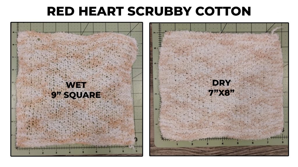 Red Heart Scrubby Cotton dishcloth